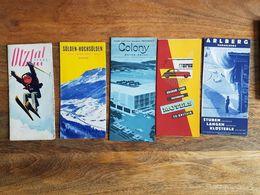 Lot 5 Anciennes Brochures Hôtel/Station De Ski - Arlberg/Colony/Otztal Tyrol - Dépliants Touristiques