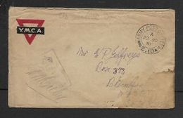 South Africa,  WWI, YMCA Envelope (British) ARMY POST OFFICE S.10  22 SP 18 > Bloemfontein - South Africa (...-1961)