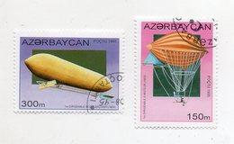 AZERBAIJAN - 1995 - Lotto 2 Francobolli Tematica Trasporti - Zeppellin - Usati - (FDC11433) - Azerbaijan