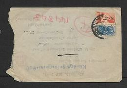 South Africa,  WWII, 9d, DURBAN ...44 >PoW Camp In Germany - South Africa (...-1961)