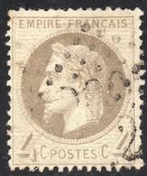 NAPOLEON LAURE N° 27B GRIS OB. LOS.GC COTE 85 € - 1863-1870 Napoléon III Lauré