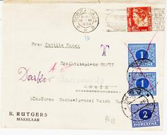 Inde Neerlandaise, En 1934  Pub Poste Aeriènne , Taxe Tcheque , TB - Indonésie