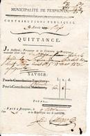 Nivôse An 5 - PERPIGNAN (66) Contributions Personnelles Réglée En ASSIGNATS Pour Joseph JULIA - Documenti Storici
