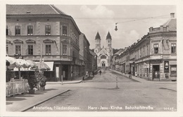 AMSTETTEN (Niederdonau) - Bahnhofstraße, Herz-Jesu-Kirche, 1941, Gute Erhaltung - Amstetten