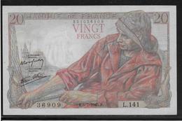 France 20 Francs Pêcheur - Fayette N°13-10 - SUP - 1871-1952 Anciens Francs Circulés Au XXème