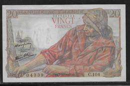 France 20 Francs Pêcheur - Fayette N°13-7 - SUP - 1871-1952 Anciens Francs Circulés Au XXème
