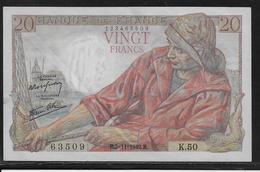 France 20 Francs Pêcheur - Fayette N°13-4 - SUP - 1871-1952 Anciens Francs Circulés Au XXème