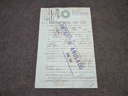 RARE PORTUGAL SINGER MACHINES CONTRACT DOCUMENT FISCAL REVENUE 1932 - Portugal