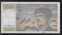 France 20 Francs Debussy - Fayette N°66 Ter - TTB - 1962-1997 ''Francs''
