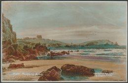 Douglas Pinder - Newquay Beach, Cornwall, 1942 - Sweetman RP Postcard - Newquay
