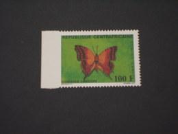 CENTRAFRICAINE - VARIETA' - 1987 FARFALLA 100 F., ND A SINISTRA - NUOVO(++) - Repubblica Centroafricana