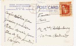 Philipines , De Manille , En 1937,  Sur Cp ( Congrès Eucharistique Mondial )  , TB - Philippines