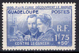 Guadeloupe  - 1938 -  40ème Anniv. Déc Radium - P & Marie CURIE - N° 139  - Neuf * - MLH - Guadalupe (1884-1947)