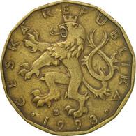 Monnaie, République Tchèque, 20 Korun, 1993, TB+, Brass Plated Steel, KM:5 - Tchéquie