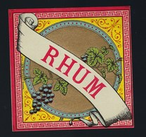 """étiquette   Rhum  """"grappe De Raisins"""" - Rhum"""