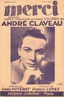 PARTITION MERCI ANDRE CLAVEAU - Autres