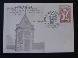02 Aisne Prémont Prémontines 1983 (oblitéré) Entier Postal Marianne De Cocteau Decaris Stationery Card - Overprinter Postcards (before 1995)