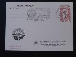 17 La Rochelle Philatélie Maçonnique Philexfrance 1982 Entier Postal Marianne De Cocteau Decaris Stationery Card - Francmasonería