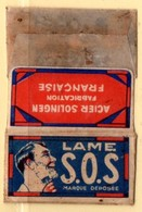 Rasage. Razor Blade. Lame De Rasoir. Lame S.O.S. Acier Solingen, Fabrication Française. - Razor Blades