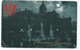 Birmingham  Postcard Birmingham  Squared Circle Christmas Card Edge Wear. - Birmingham
