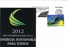 29703. Tarjeta BARCELONA 2012. Año Energia Sostenible - 1931-Hoy: 2ª República - ... Juan Carlos I