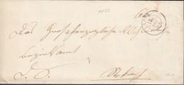 BADEN Dienst-Faltbrief Von Aach 18.JAN (1853) (K2), Nach Illmenau - Baden