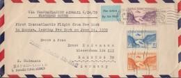 PANAMA Kanalzone 87-89 MiF Auf Luftpost, Transatlantik Erstflug 24.6.1939 Von New York Nach Europa - Panama