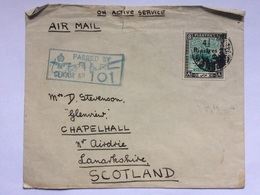 SUDAN - 1940`s Censor Cover Tied With 1940 Overprint Sent To Scotland - Sudan (...-1951)
