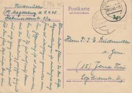 SBZ  95 Auf Postkarte AP P 302 Gestempelt: Magdeburg 10.4.45/Jena 29.12.45, Mit Laufgeschichte - Zone Soviétique