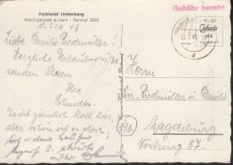 SBZ: Gebühr Bezahlt (B 1 A), Auf AK: Werningerode Schloss, Mit Stempel: Werningerode 22.9.1948 - Zone Soviétique