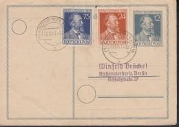 AllBes. GemAusg. 963-964 Auf PK P 965 Mit Stempel Birkenwerder 20.10.1947 - Gemeinschaftsausgaben