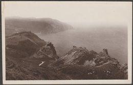 Valley Of Rocks, Lynton, Devon, C.1910s - Montague Cooper RP Postcard - Lynmouth & Lynton