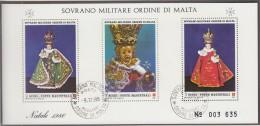 Orden Von MALTA  Block, Gestempelt, Weihnachten 1986 - Malta (Orden Von)