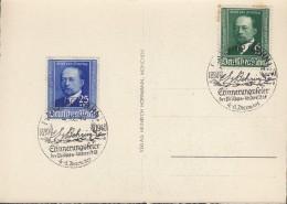 DR 760-761 Auf SoKa Mit Sonderstempel: Marburg Emil Von Behring Erinnerungsfeier 4.12.1940 - Briefe U. Dokumente