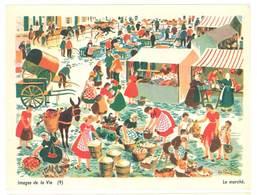 """Carte """" Image De La Vie """" (9) : Le Marché ( âne, Marchandes, Fruits, Légumes ) - Vieux Papiers"""