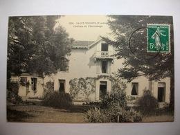 Carte Postale Saint Mesmin (85) Chateau De L'Ermitage (Petit Format Noir Et Blanc Oblitérée 1912 Timbre 5 Centimes) - France