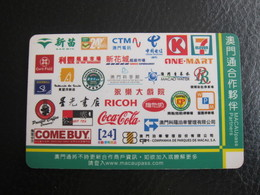 Macau Pass, Sponser Partner Coca Cola,Ricoh,7 Eleven And So On - Macau