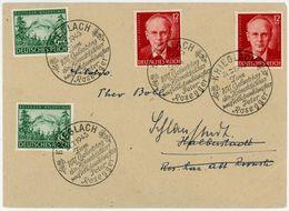 Nr. 855 - 856 (2) Aus Krieglach Sonderstempel 1943 Fernbrief - Deutschland