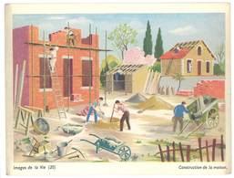 """Carte """" Image De La Vie """" (20) : Construction De Maison ( Maçon, Brique, Brouette, Couvreur ) - Vieux Papiers"""