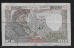 France 50 Francs Jacques Coeur - Fayette N°19-1 - TB - 50 F 1940-1942 ''Jacques Coeur''