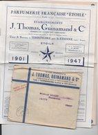 Terrenoire Près Saint Etienne (42 Loire) Catalogue Tarif PARFUMERIE ETOILE 1947 Avec 1 Planche Couleur (PPP14558) - Advertising