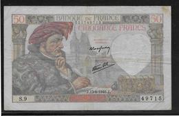 France 50 Francs Jacques Coeur - Fayette N°19-1 - TB - 1871-1952 Anciens Francs Circulés Au XXème
