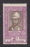 Gabon, Scott #J21, Mint Hinged, Count Savorgnan De Brazza, Issued 1930 - Gabon (1886-1936)