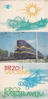 "YUGOSLAV RAILWAYS TRAIN GUIDE BROCHURE - ""FAST & SECURE"" - Europa"