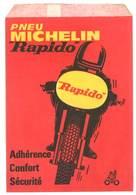 Pochette Papier Pneu Michelin Rapido, Moto De Course - Publicités