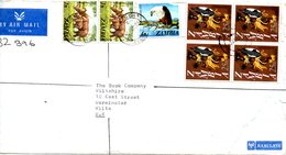 ZAMBIE. N°133 De 1975 Sur Enveloppe Ayant Circulé. Rhinocéros/Aigle. - Rhinozerosse