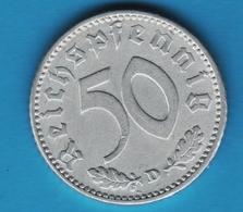 DEUTSCHES REICH 50 REICHSPFENNIG 1935 D  KM# 87 - [ 4] 1933-1945 : Tercer Reich