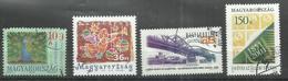 """Ungarn 4697-4700 """"4 Einzelmarken Verschiedener Motive"""" Gestempelt Mi.: 4,30 - Hongrie"""