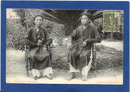 CPA Tonkin Indochine Asie Types Ethnic Annam Annamite Circulé - Viêt-Nam