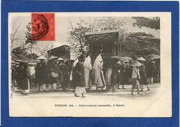 CPA Tonkin Indochine Asie Types Ethnic Circulé Enterrement Annamite - Viêt-Nam